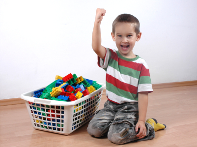 The gallery for --> Children Cleaning Up Toys